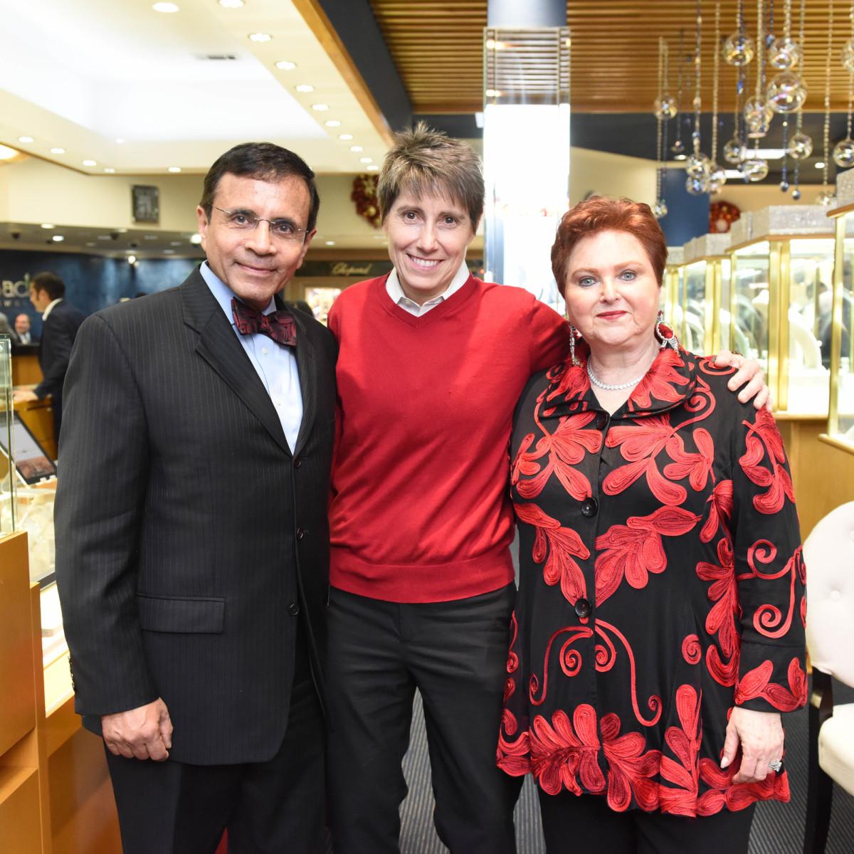 News, Zadoks Holiday Party, Dec. 2015, Dror Zadok, Salise Shuttlesworth, Helene Zadok