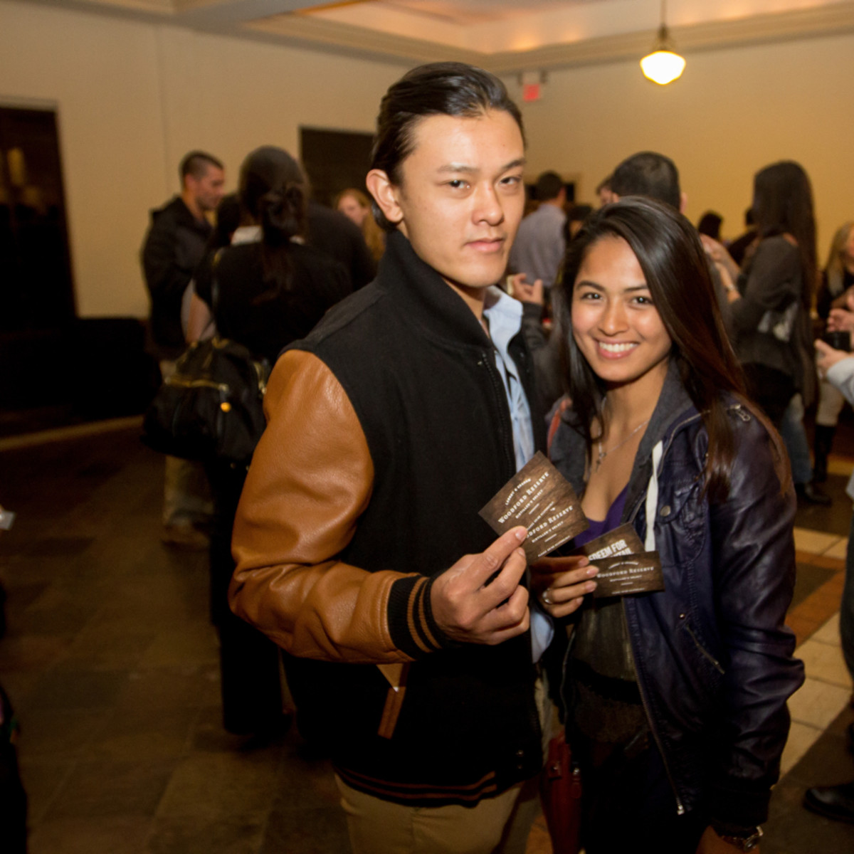 Woodford Reserve event Houston Samuel Le, Crista Faith Castro