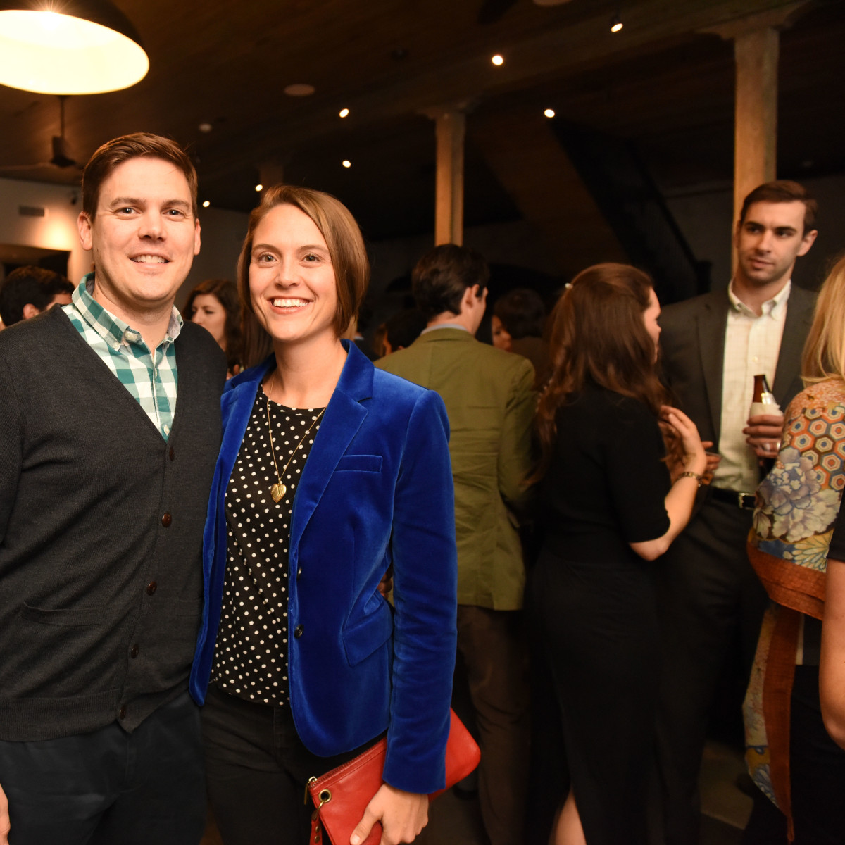 News, Pier & Beam party, Dec. 2015, Christian Triantaphyllis , Emily Triantaphyllis