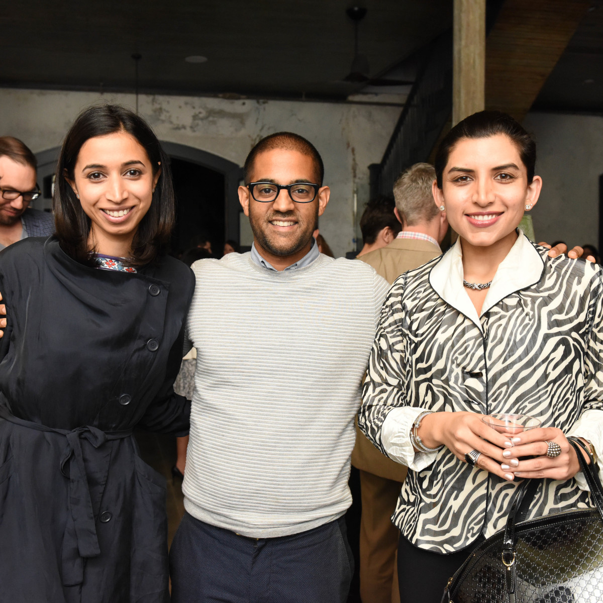 News, Pier & Beam party, Dec. 2015, Asha Gandhi, Vikas Sodhani, Puja Verma