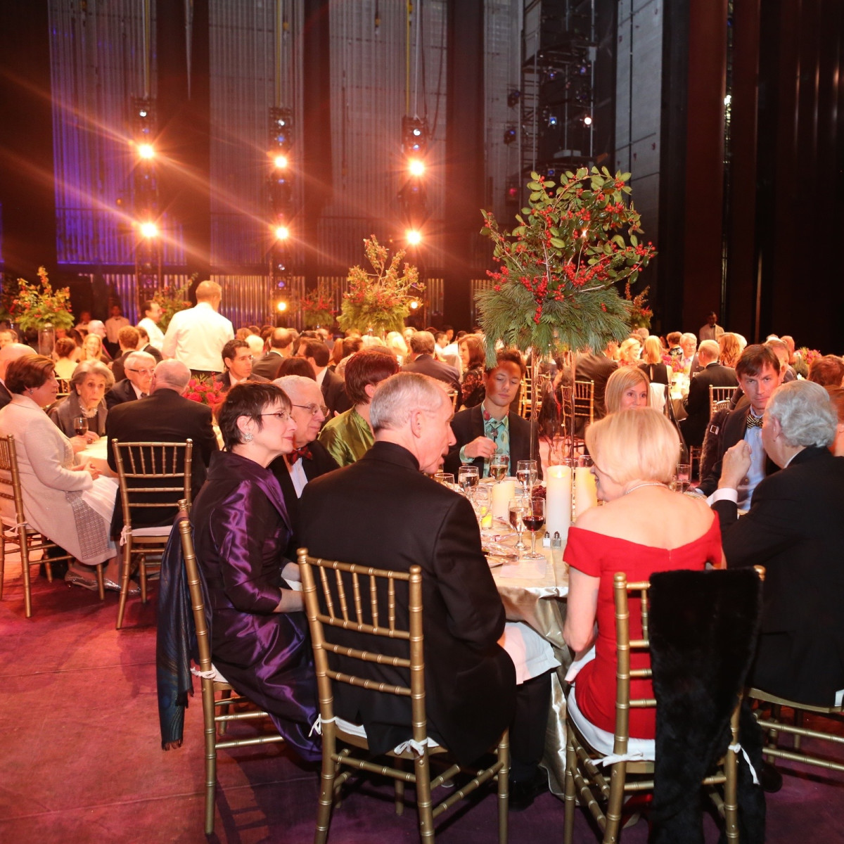 News, Houston Ballet Jubilee of Dance, Dec. 2015, On stage dinner