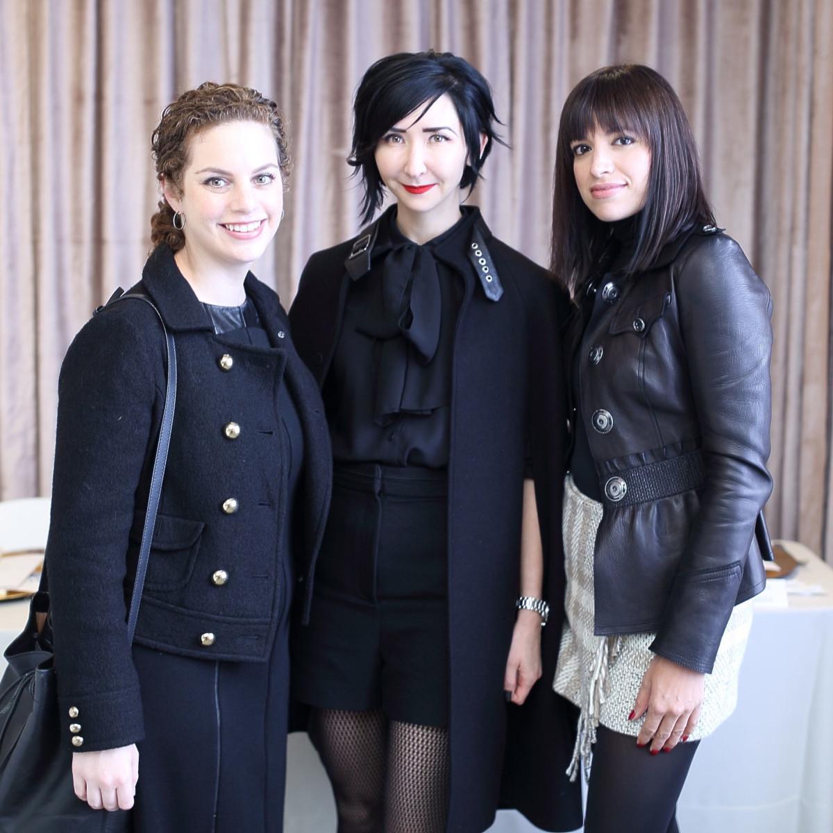 Emily Schreiber, Carrie Brandsberg-Dahl, Sandra Manela at Miles David fashion show