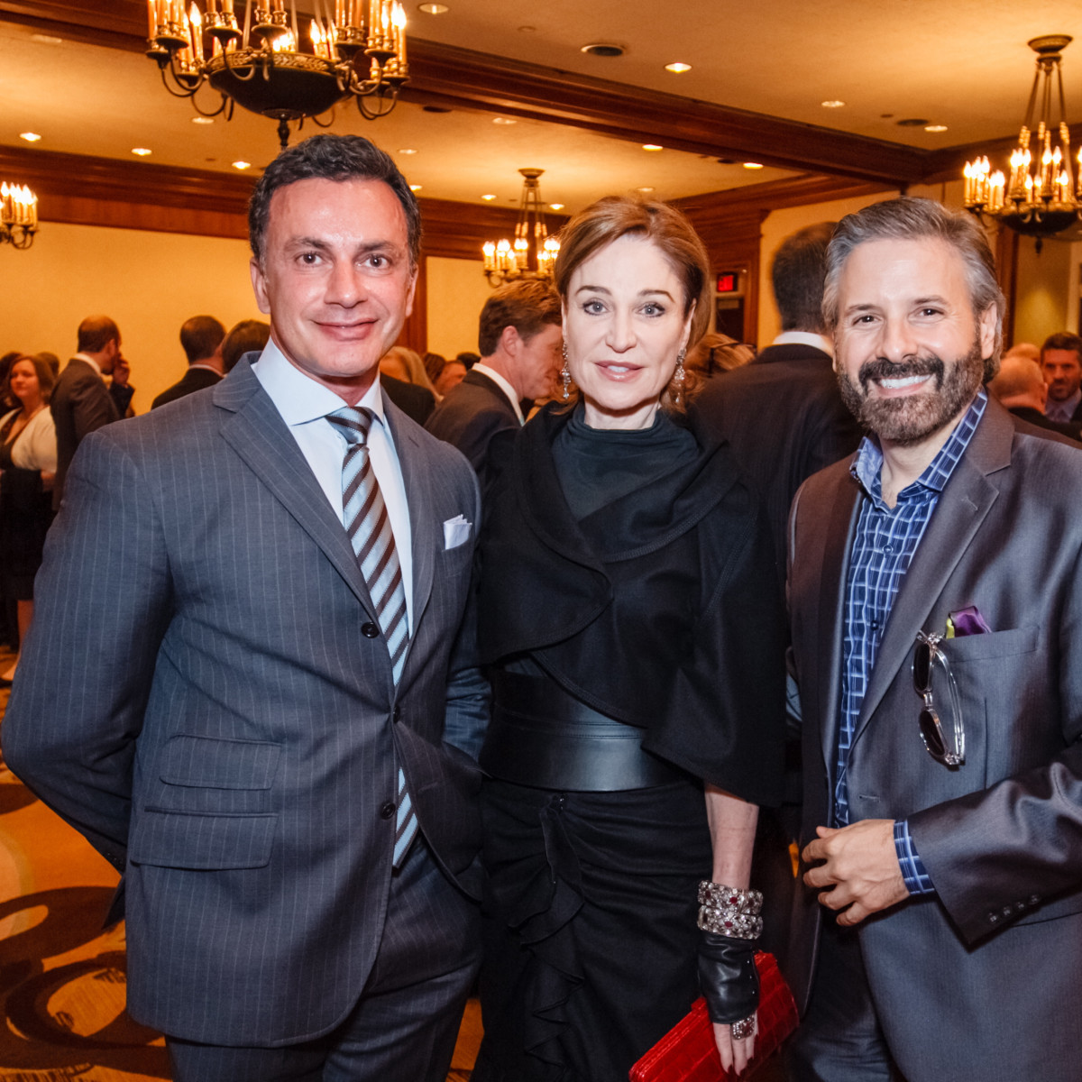 World AIDS Day luncheon Monsour Taghdisi, Becca Cason Thrash, Ernie Manouse