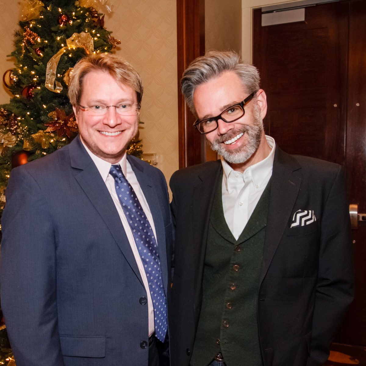 World AIDS Day luncheon Matt Burrus, Michael Pearce