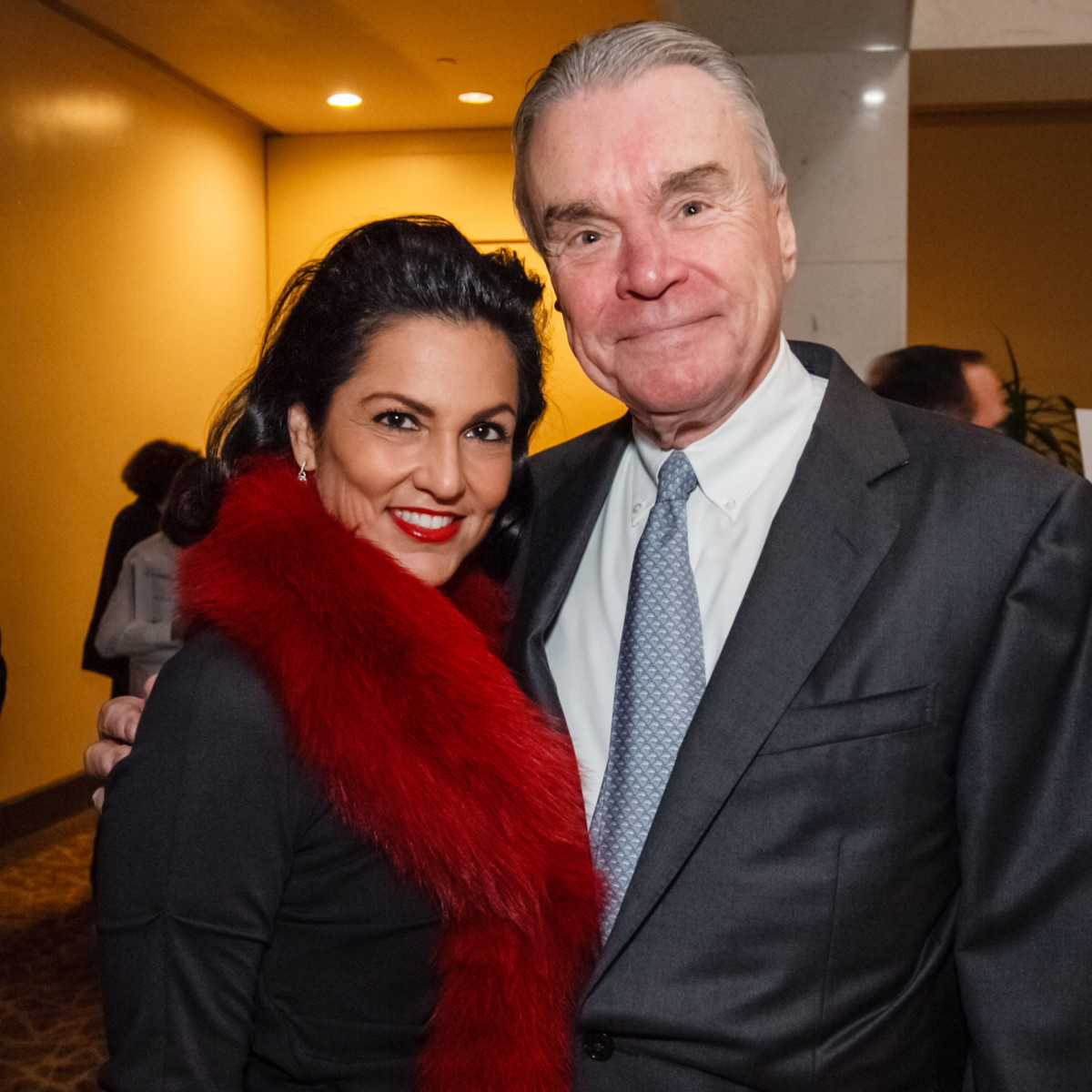 World AIDS Day luncheon Jessica Rossman and Gordon Bethune