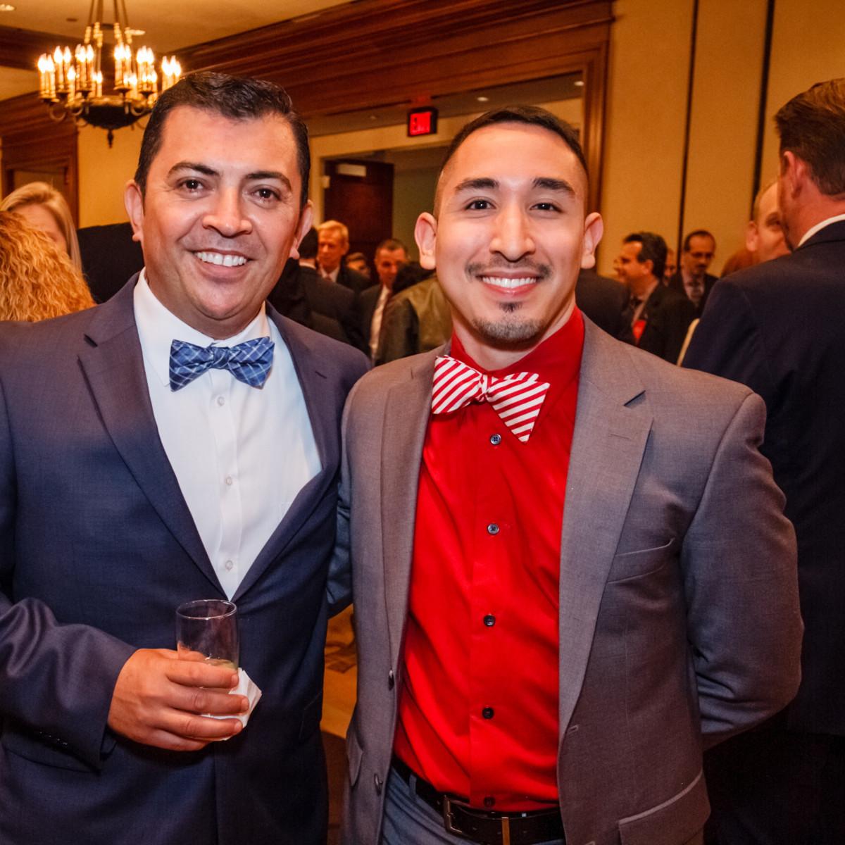 World AIDS Day luncheon Arturo Rodriguez, Aaron Flores