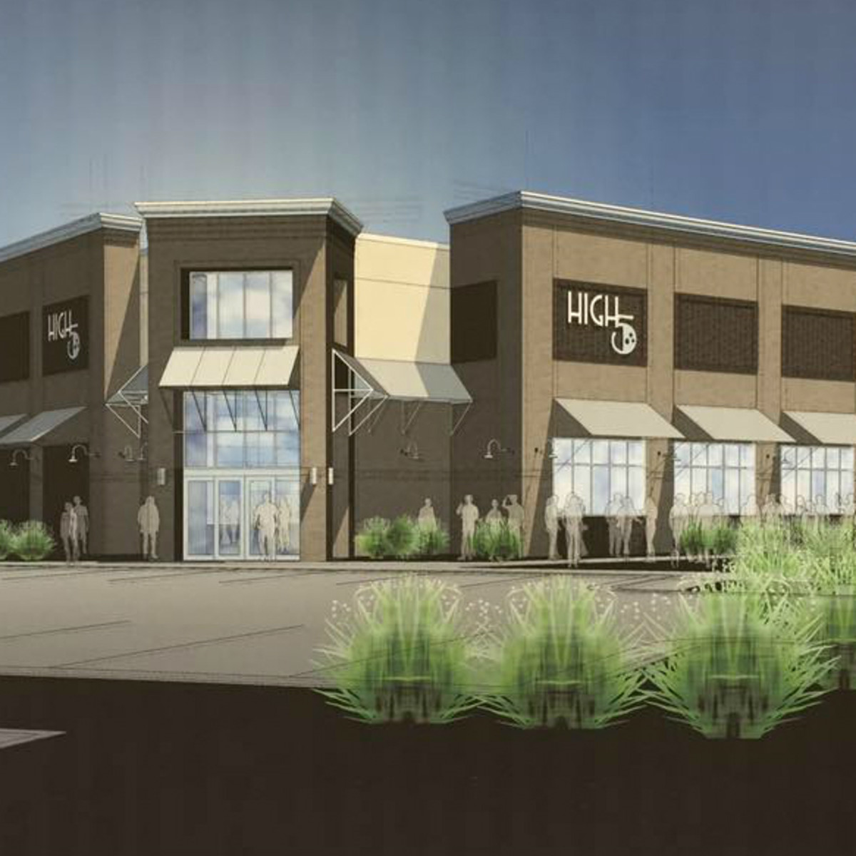 High 5 five entertainment venue Lakeway Austin rendering 2015