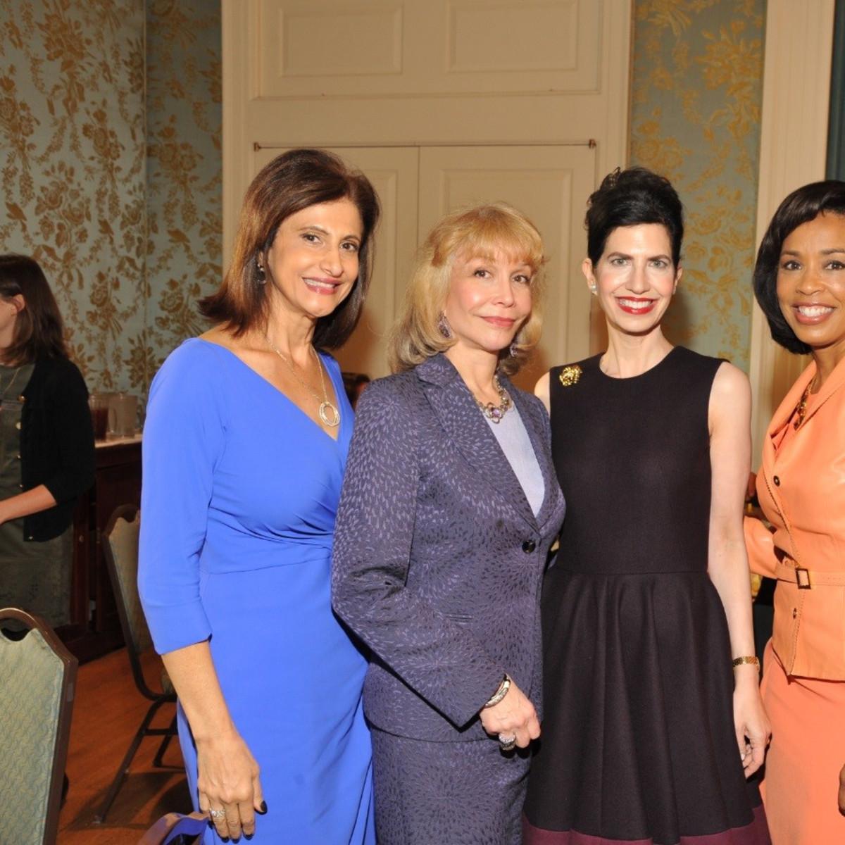 News, Interfaith Ministries luncheon, Nov. 2015, undefinedSouad Bejjani; Susan Boggio, Kelli Cohen Fein, Gina Gaston
