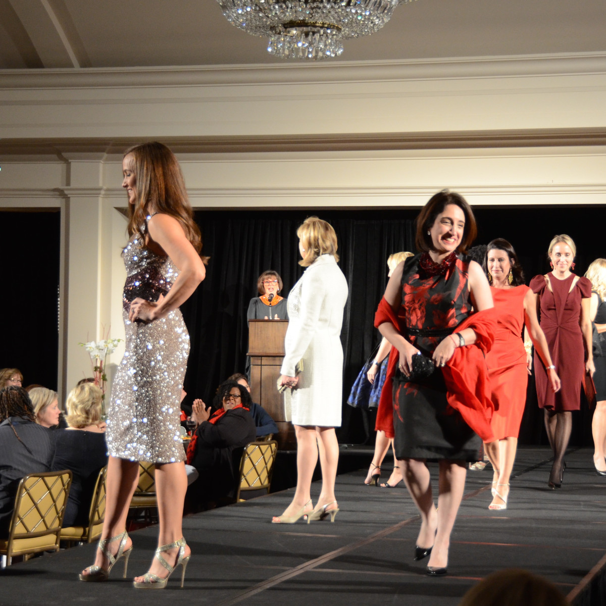 Houston, Dress for Success A Night Out Event, November 2015, models in the runway