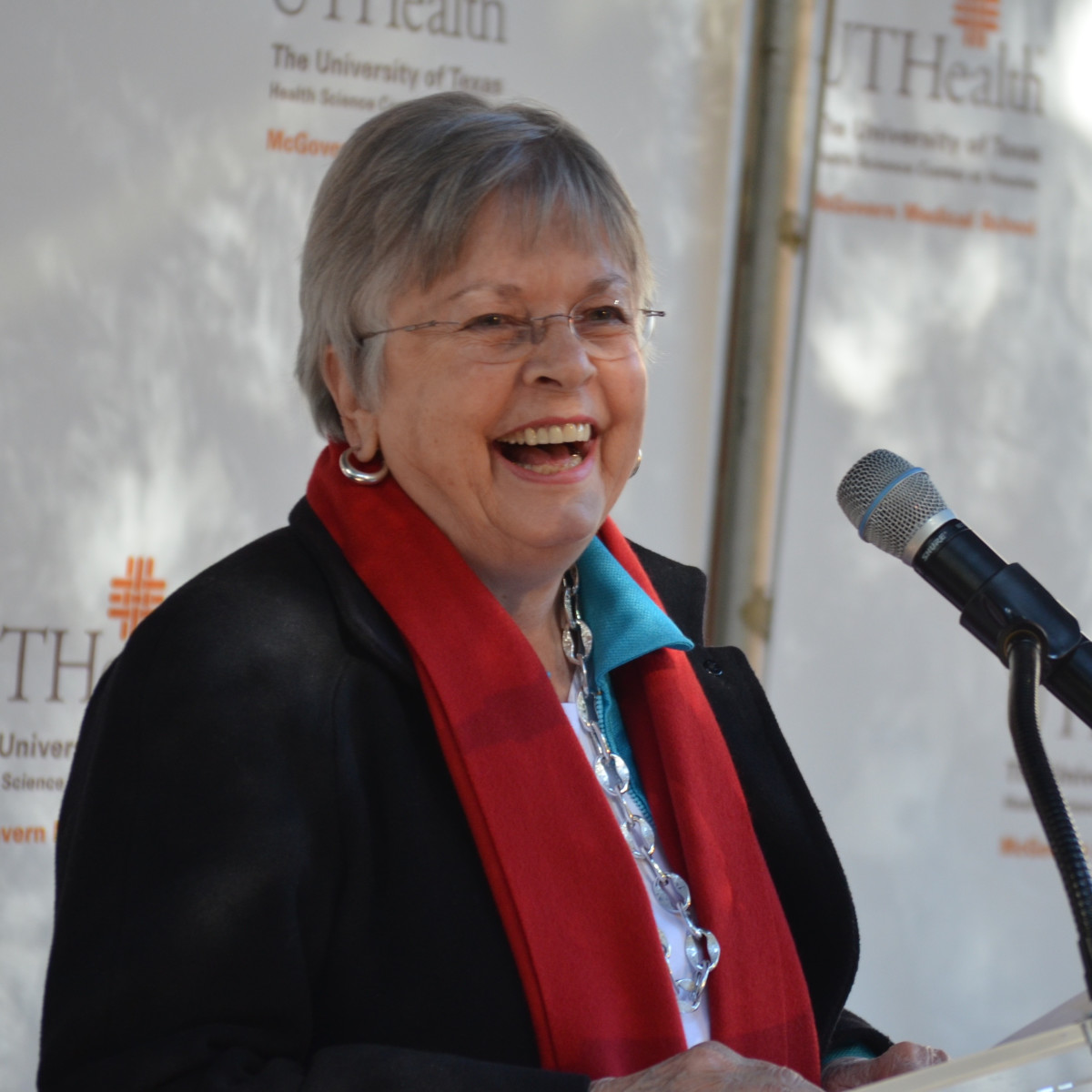 News, Shelby, McGovern Medical School unveiling, Nov. 2015,  Kathrine McGovern