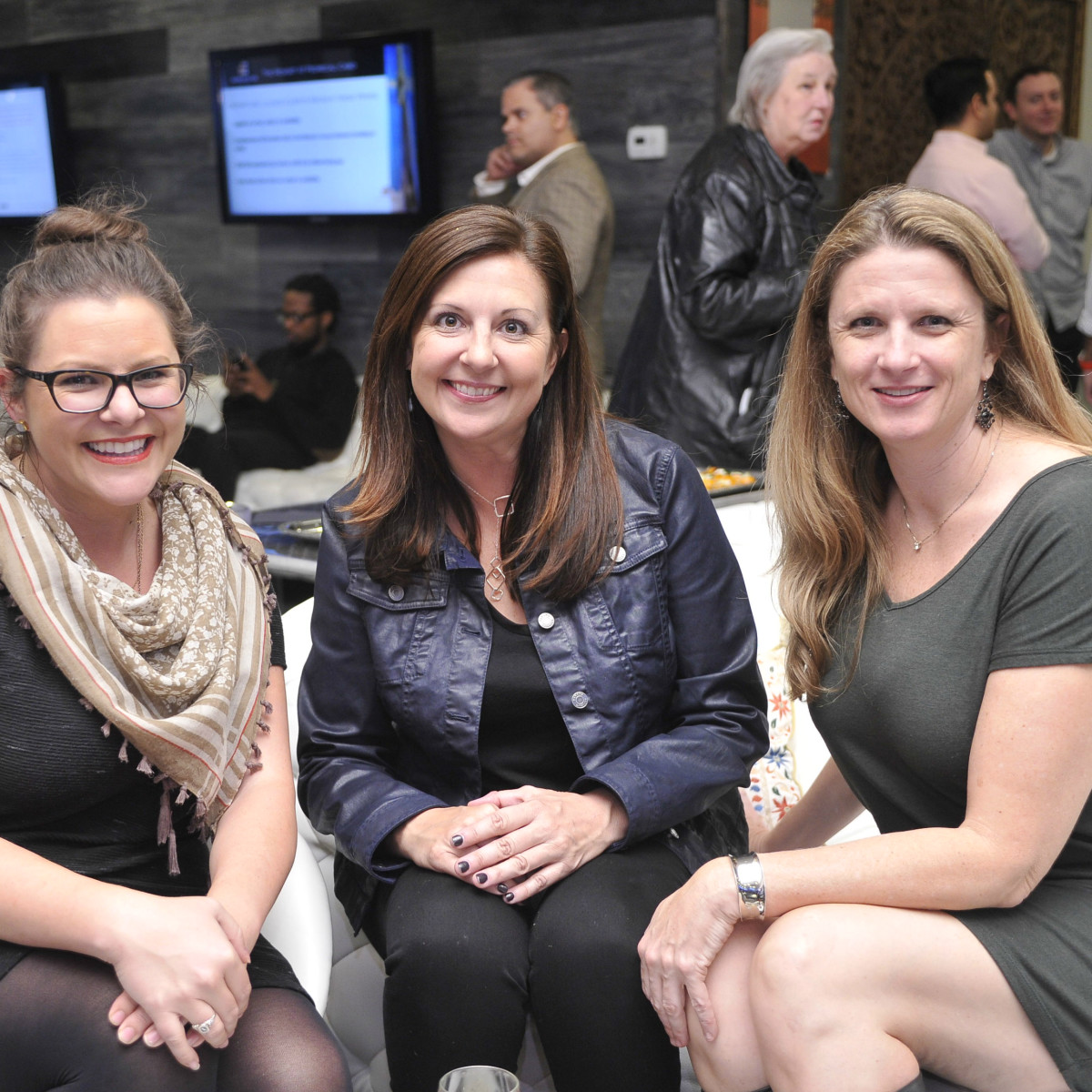 Blanton Museum Art on the Edge Kickoff Party November 2015 Kellie O'Neal Jill Parma Stacey Harmon