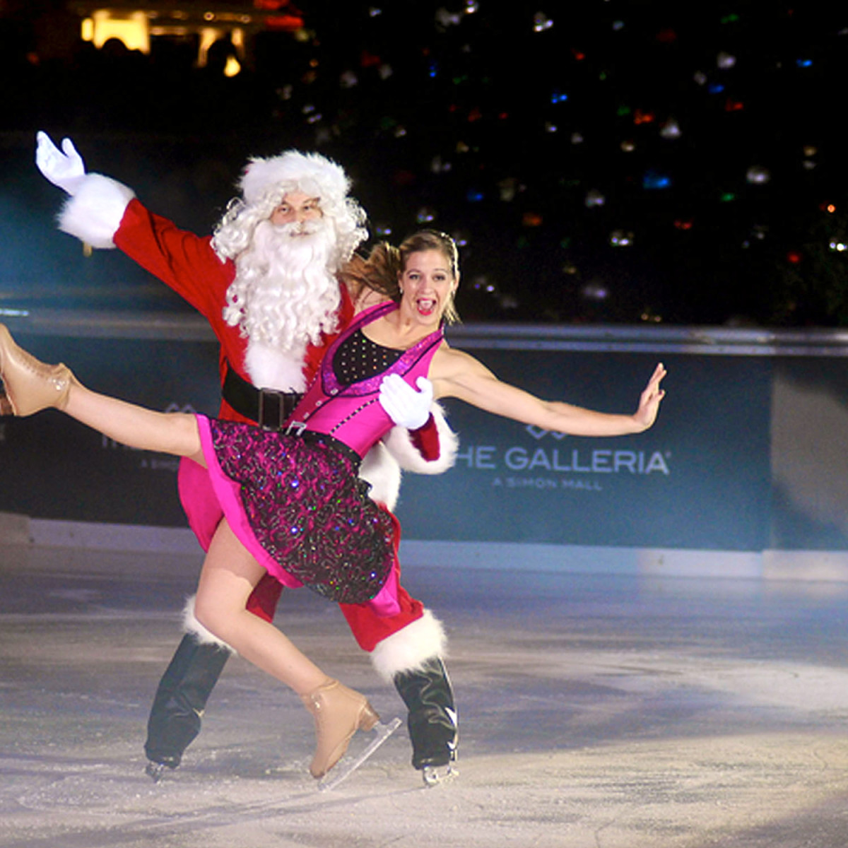 Galleria Ice Spectacular Nov 2015 Santa and skater