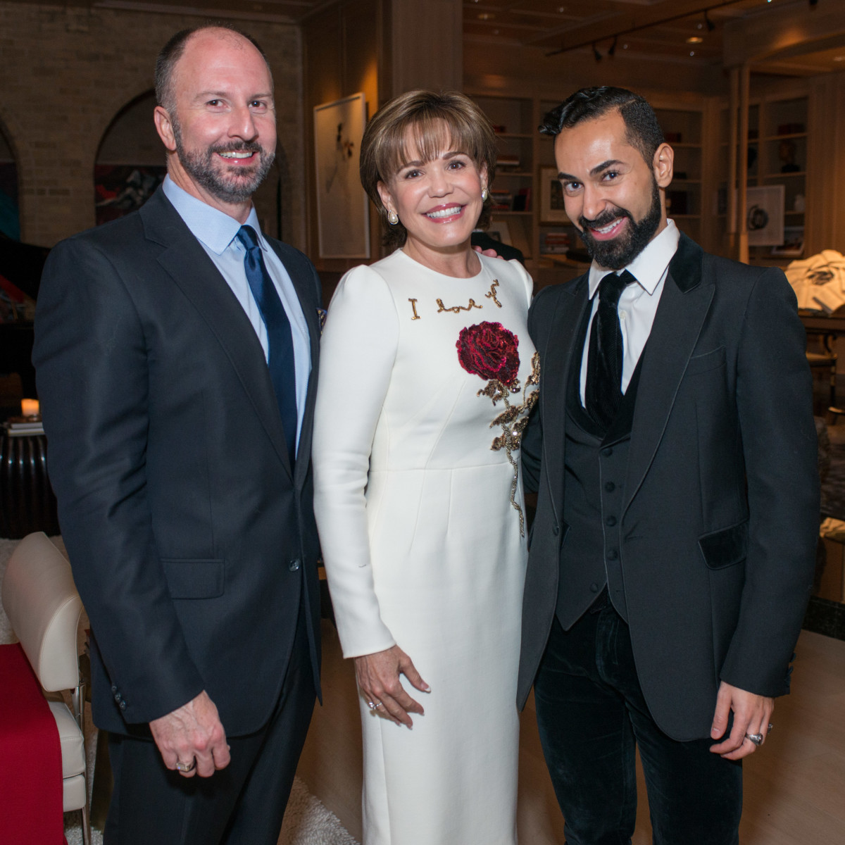News, Shelby, Dolce & Gabbana dinner, Nov. 2015, Tony Bradfield, Hallie Vanderhider Fady Armanious