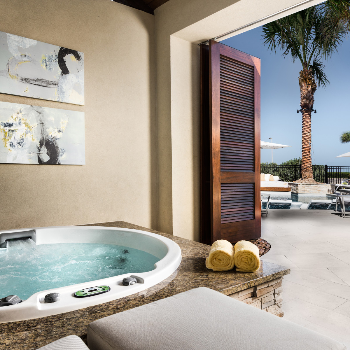 The Villas at San Luis hot tub