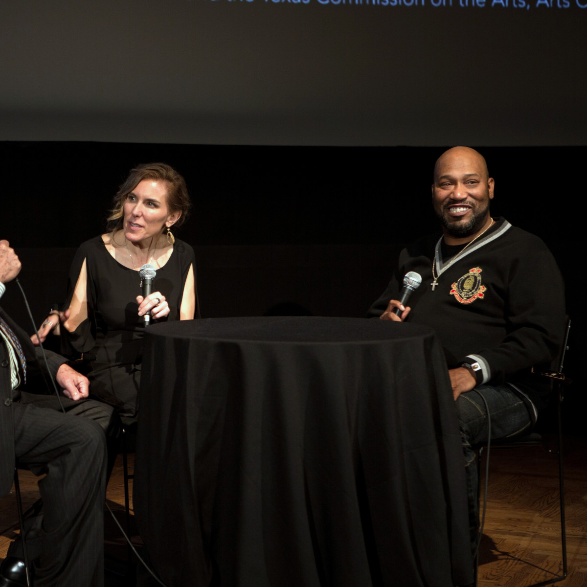 Houston, Cinema Arts Fest opening night, November 2015, Dave Moriarty, Amy Berg, Bun B