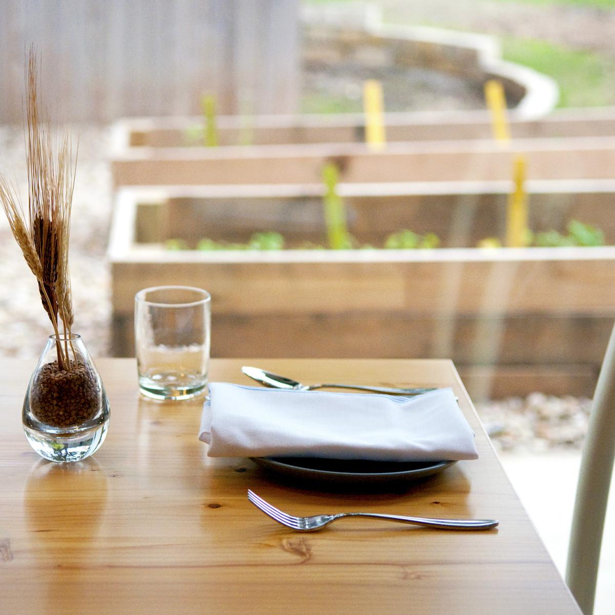 Emmer and Rye 2015 Austin restaurant garden beds