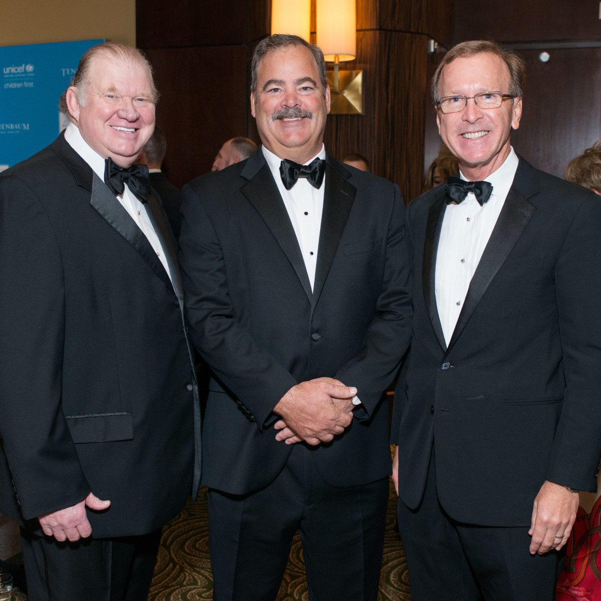 News, Shelby, UNICEF gala, Nov. 2015, Paul Somerville, Cal McNair, Neil Bush