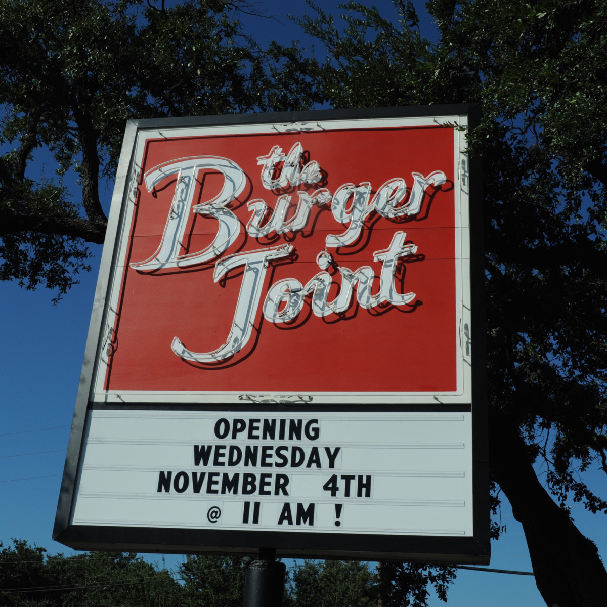 The Burger Joint sign