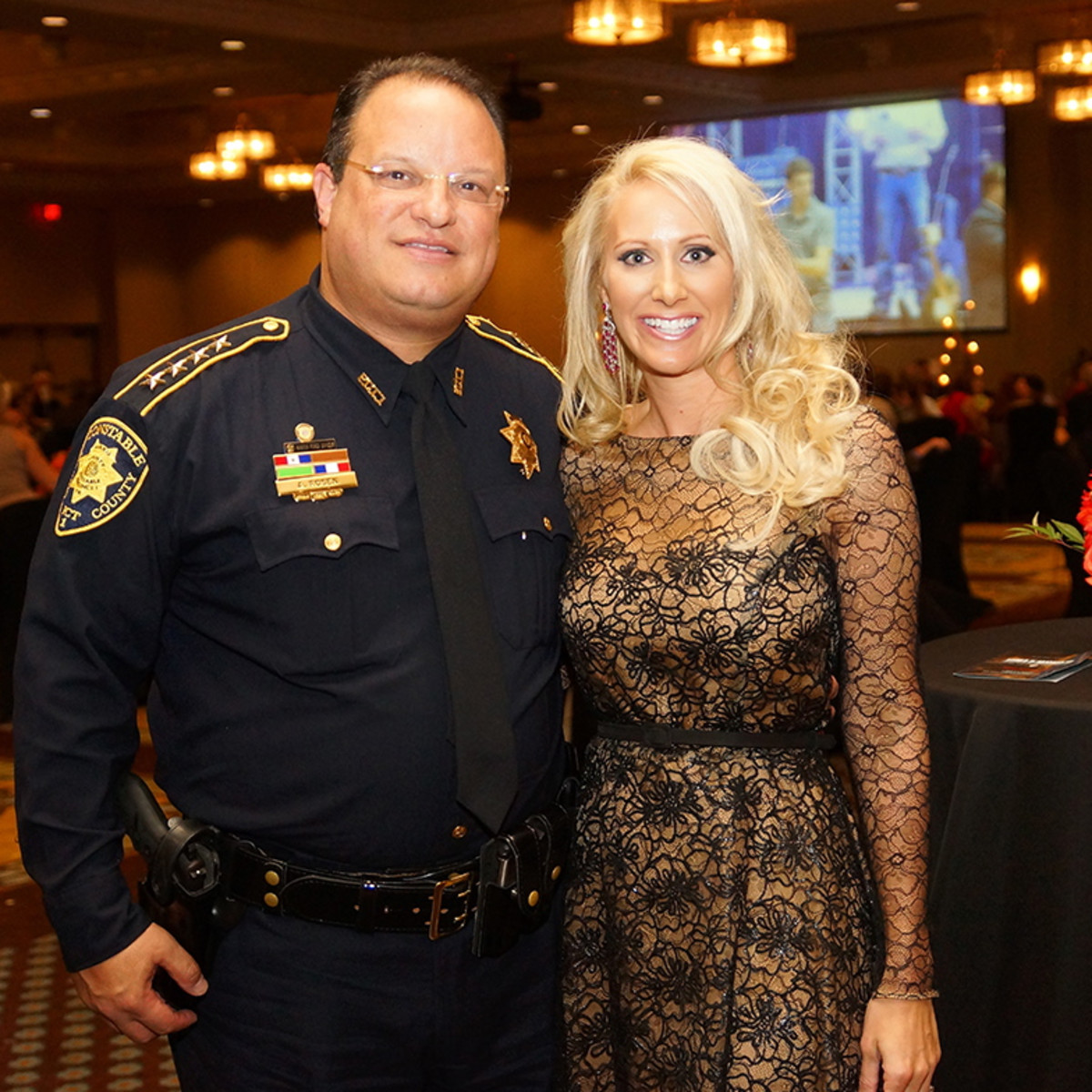 K9s4COPS Gala Precinct 1 Constable Alan Rosen and Chair Laurie Krohn