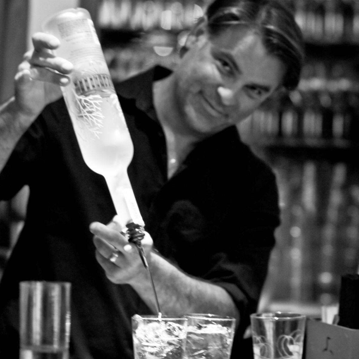 Bartender of Parigi restaurant in Dallas