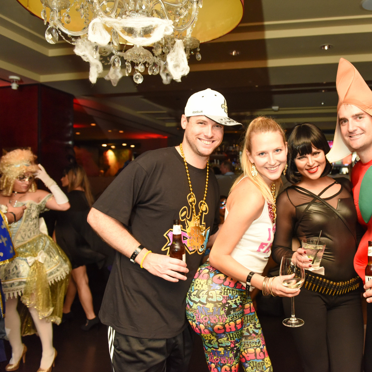 News, Shelby, Hotel ZaZa Halloween, Oct. 2015 Cole Sanches, Lauren Sanches, Stephanie Marichal, Drew Oldis