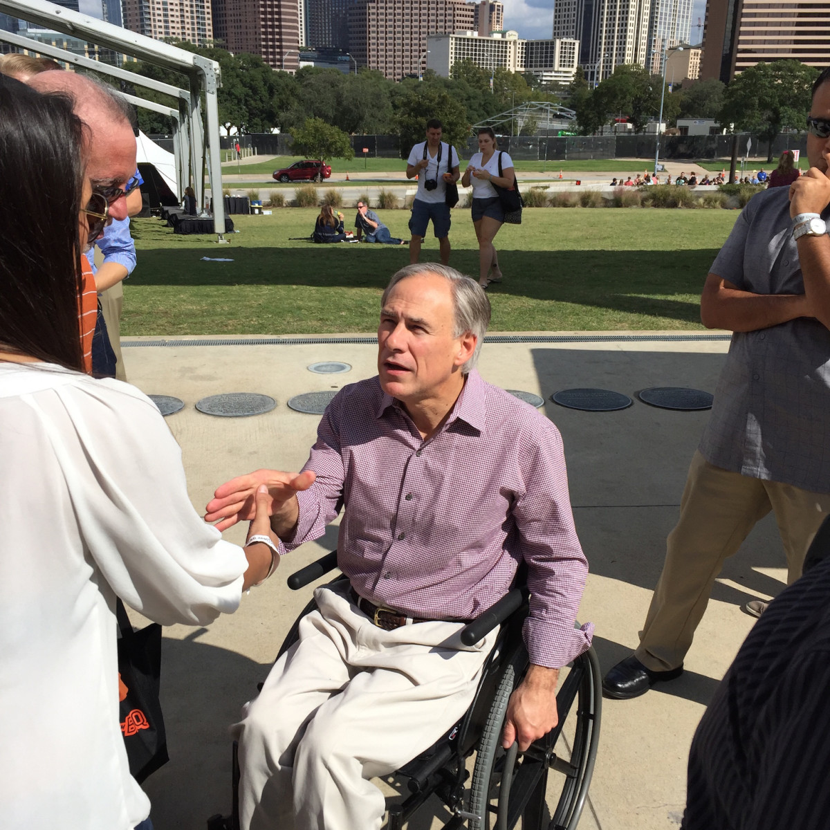 Texas Monthly BBQ Fest 2015 Greg Abbott