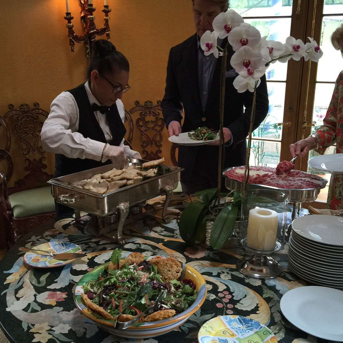 News, Shelby, Barbara Hines lunch on Venice, Oct. 2015, George Lancaster