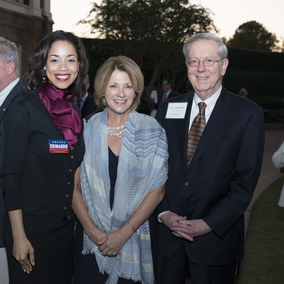 News, Shelby, Scenic Houston dinner, Oct. 3015,  Amanda Edwards, Claudia Williamson, Jonathan Day