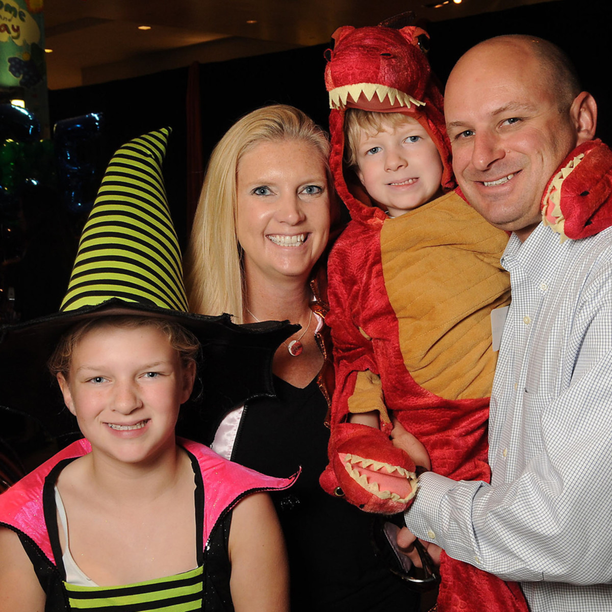 MD Anderson Halloween at the Galleria Campbell, Ashley, Colt and Chapman Mannschreck