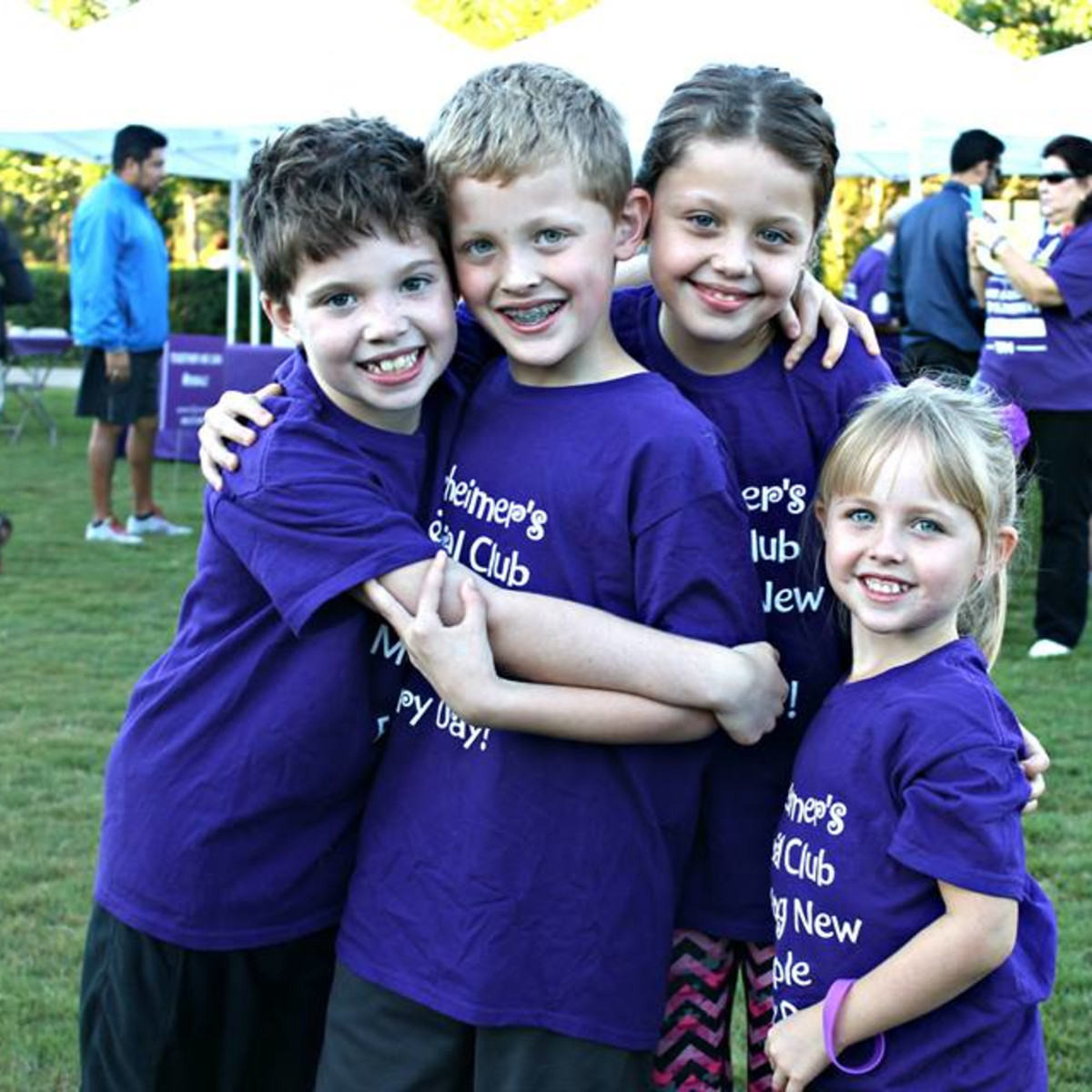 Children participate in Walk to End Alzheimer's