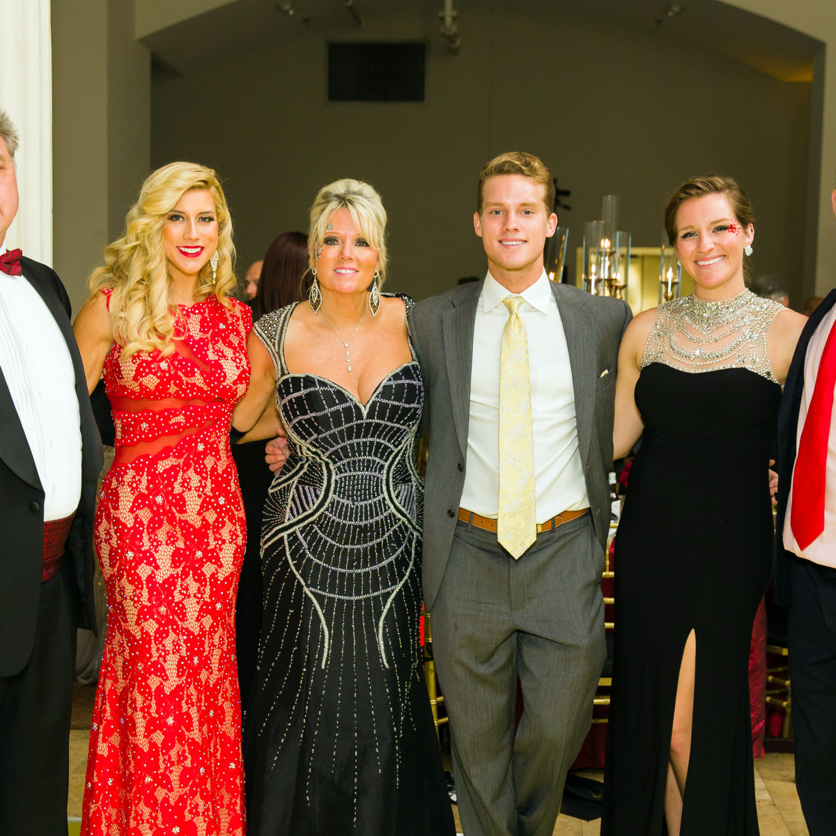 Houston, Jamies Hope Gala, October 2015, John Ehrman, Angela Zatopek, Elizabeth Ehrman, Christopher Zatopek, Audrey Zatopek, Joshus Zatopek