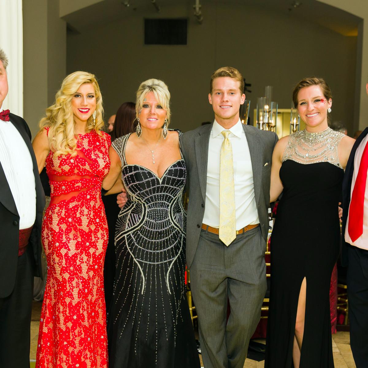 Houston, Jamies Hope Gala, October 2015, John Ehrman, Angela Zatopek, Elizabeth Ehrman, Christopher Zatopek, Audrey Zatopek, Joshus Zatopek