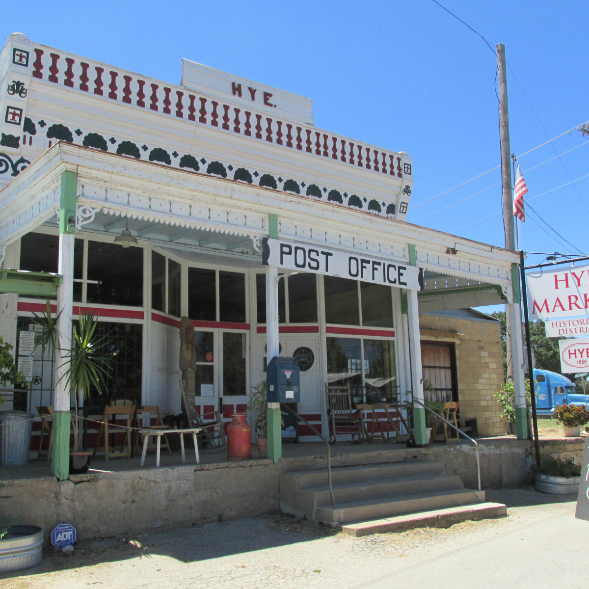 Hye Market exterior general store post office 2015
