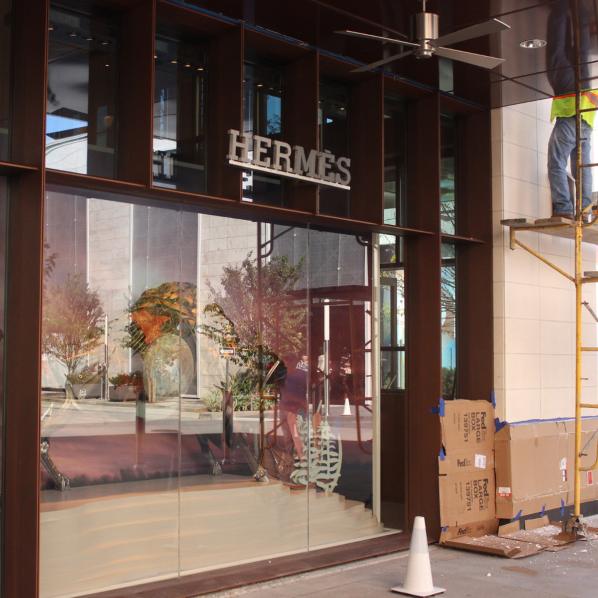 Hermes exterior under construction River Oaks District