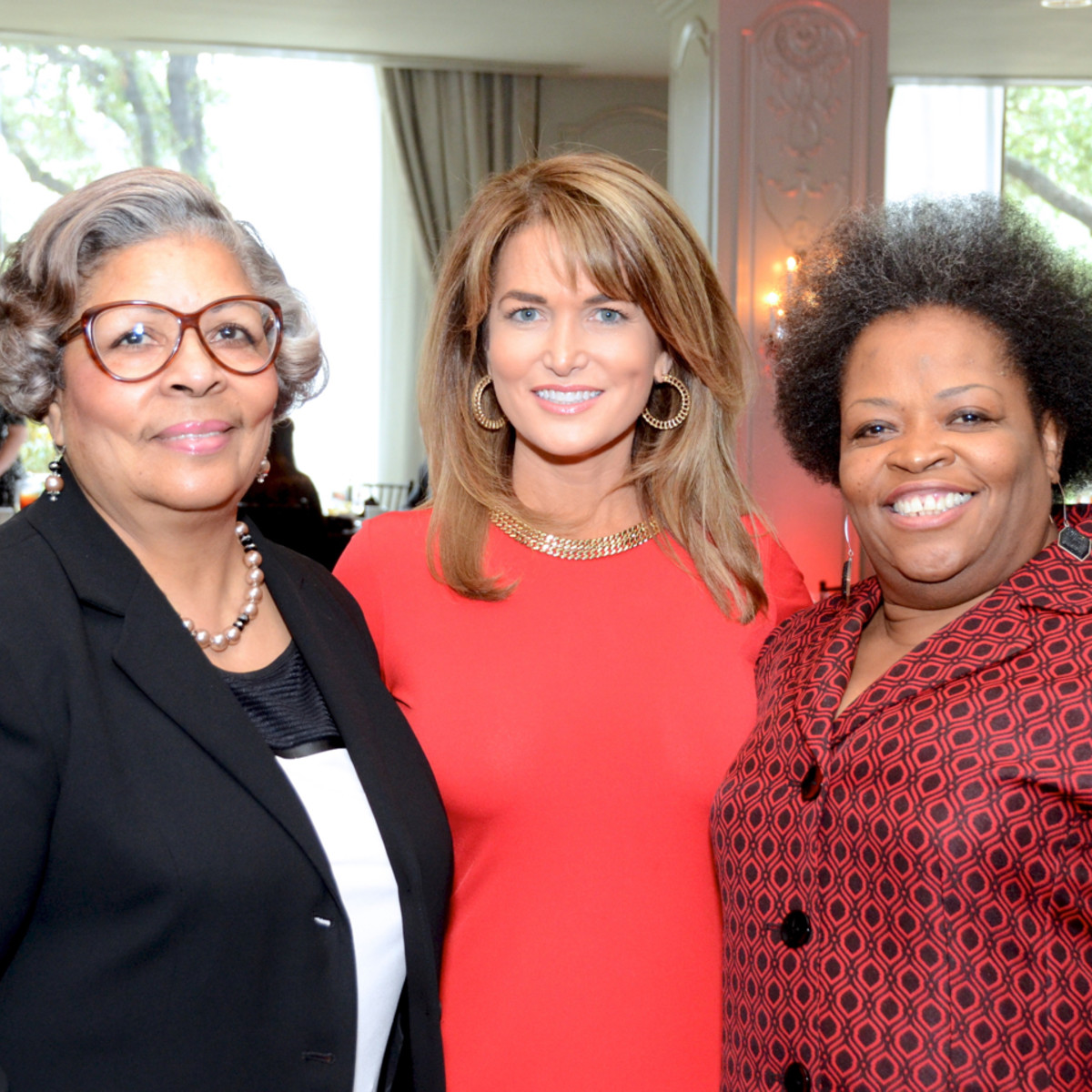 Red Sand Project dinner Rep. Senfronia Thompson, Melissa Wilson, Tammi Lang Campbell