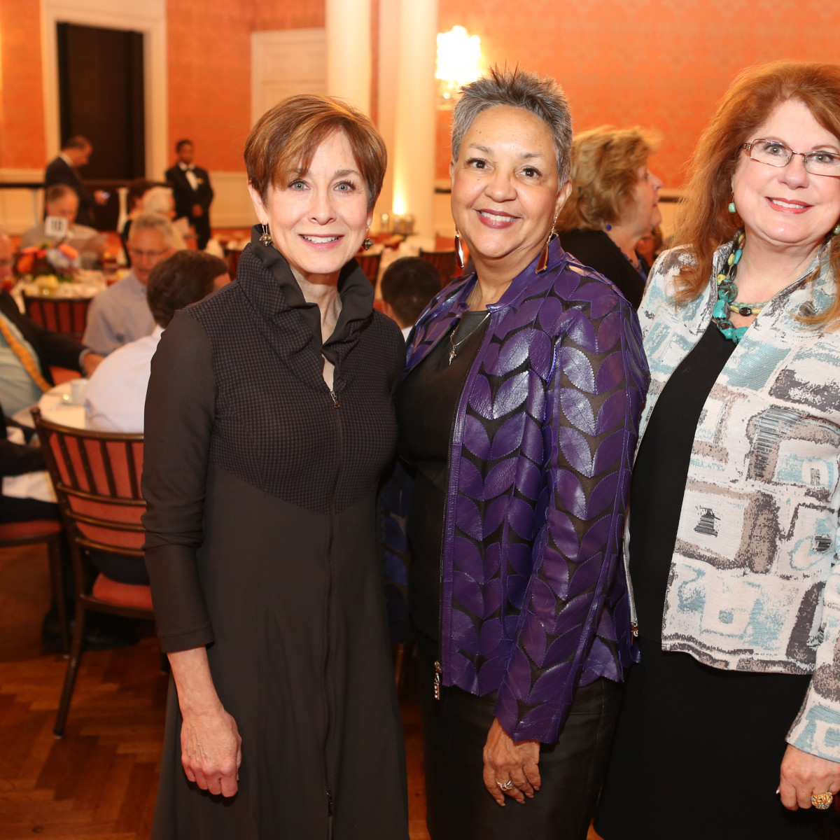 News, Shelby, Houston Museum of Natural Science Luncheon, Oct. 2015, Amy Chaisson, Carla Dickerson, Joni Baird