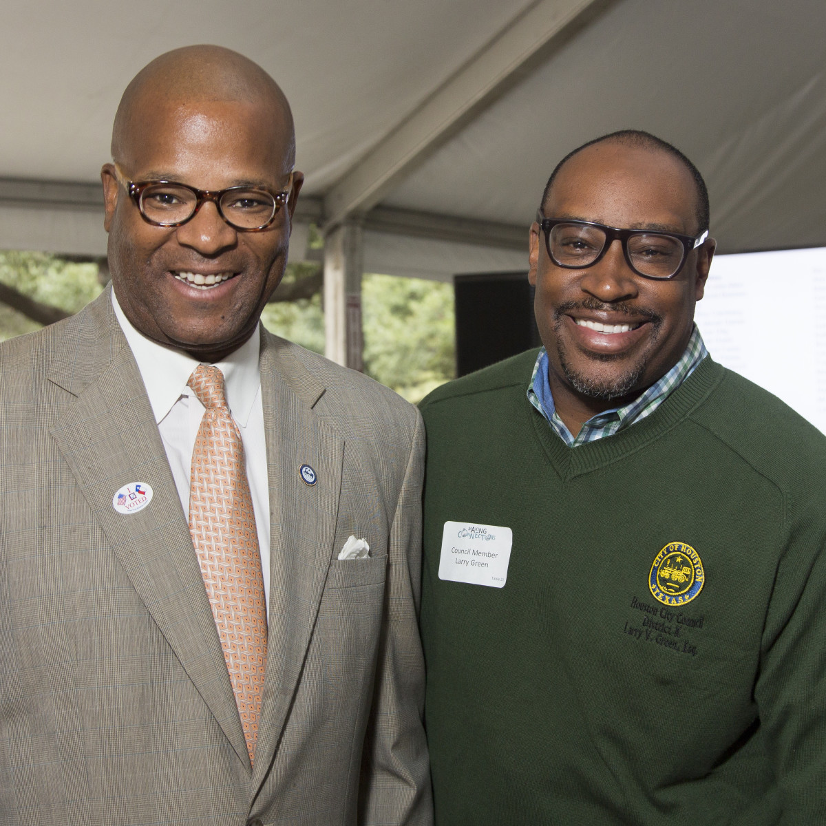 Houston Parks Board Luncheon Council Member Dwight Boykins; Council Member Larry Green