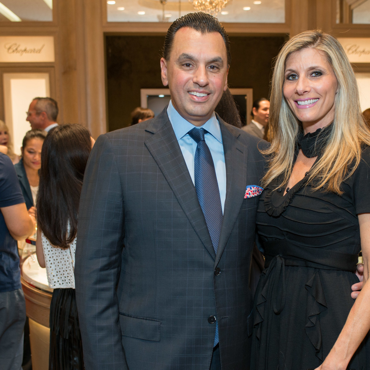 News, Shelby, Chopard opening, Oct. 2015, Gina Bhatia, Dr. Devinder Bhatia