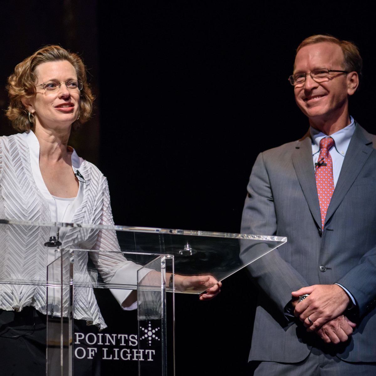 News, Shelby, Points of Light Tribute, Oct. 2015, Michelle Nunn, Neil Bush