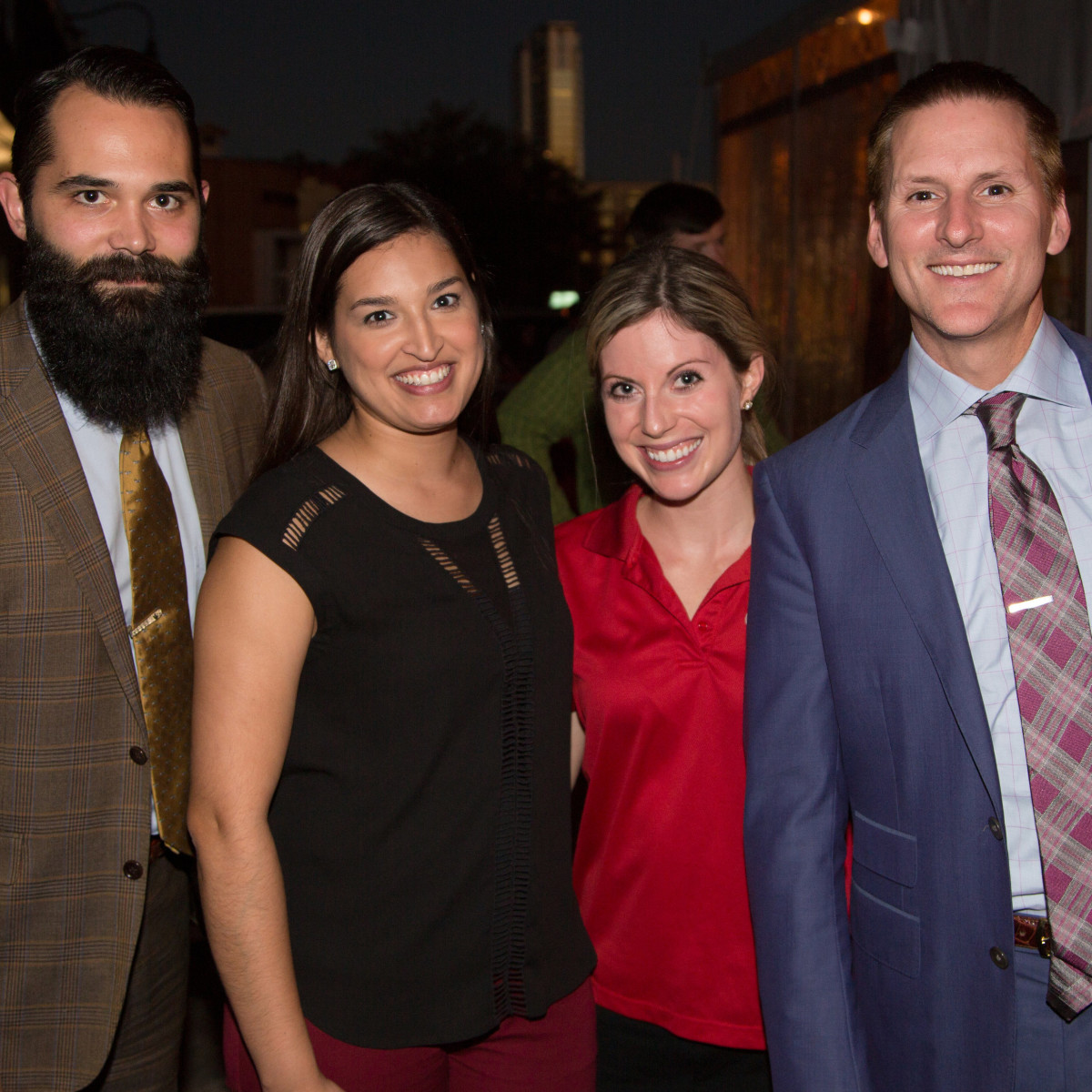 Houston, Mica Mosbacher Racing Forward event, October 2015, Lance Holder, Rachel Castillo, Kara Denney, Christian Boehm