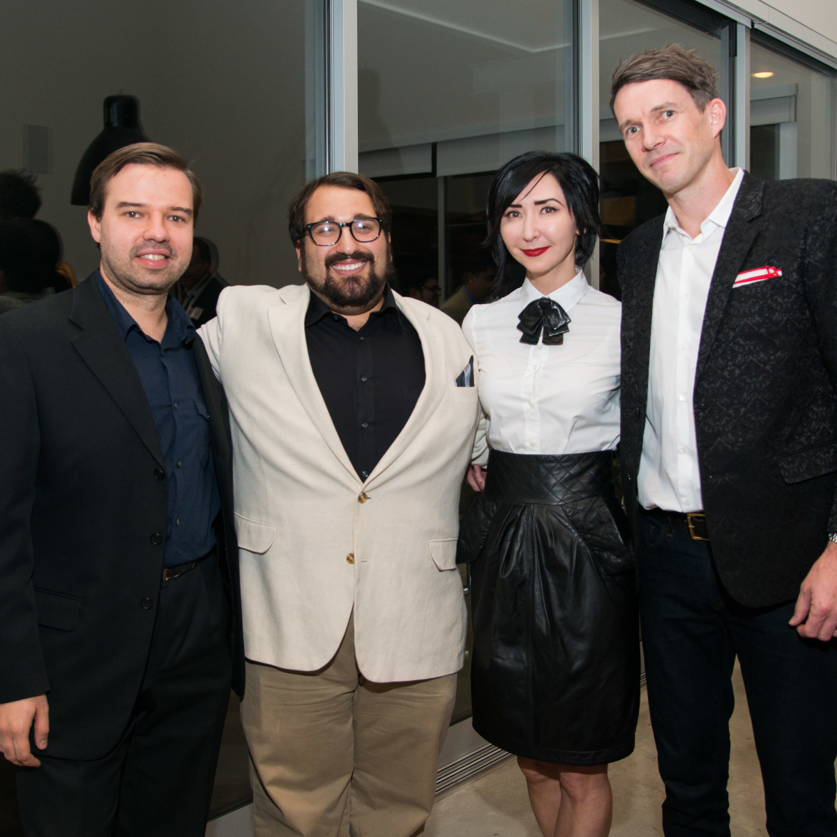 Houston, HGO Young Patrons event, October 2015, Kirill Kuzmin, Chris Bozeka, Carrie Brandsberg-Dahl, Sverre Brandsberg-Dahl