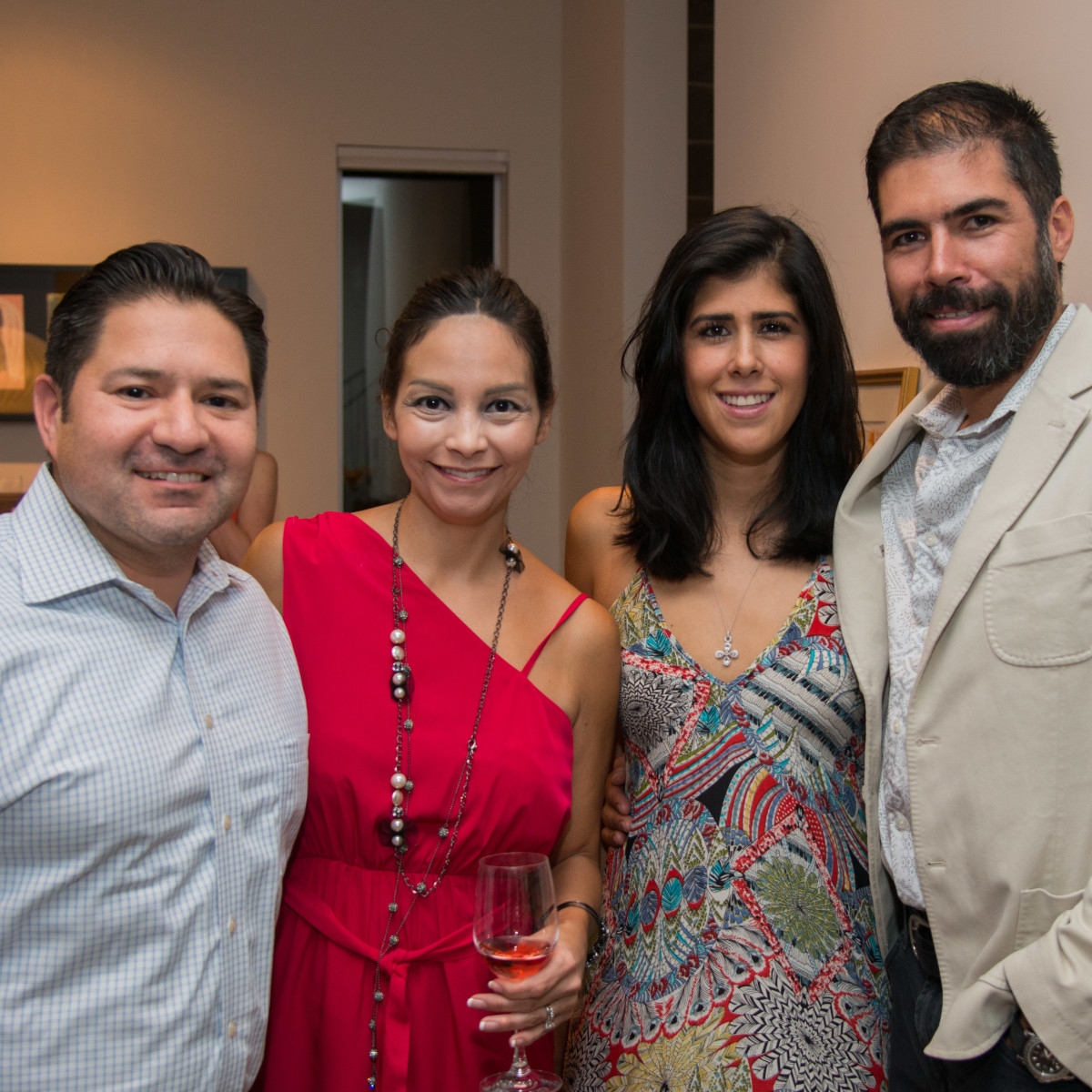 Houston, HGO Young Patrons event, October 2015, Gerard Trevino, Kimberly Trevino, Alejandra Lozano, Hector Torres