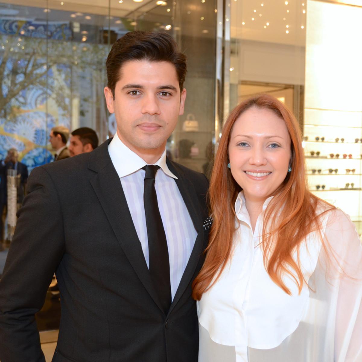 Dior grand opening Yuri Xavier, Meredit Xavier