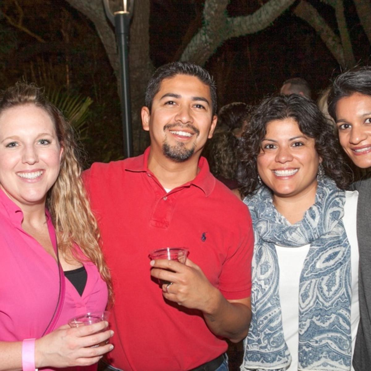 Houston Zoo YP Emily Brandts, Damian Gonzales, Sandy Trevino, Rahkee Sharma