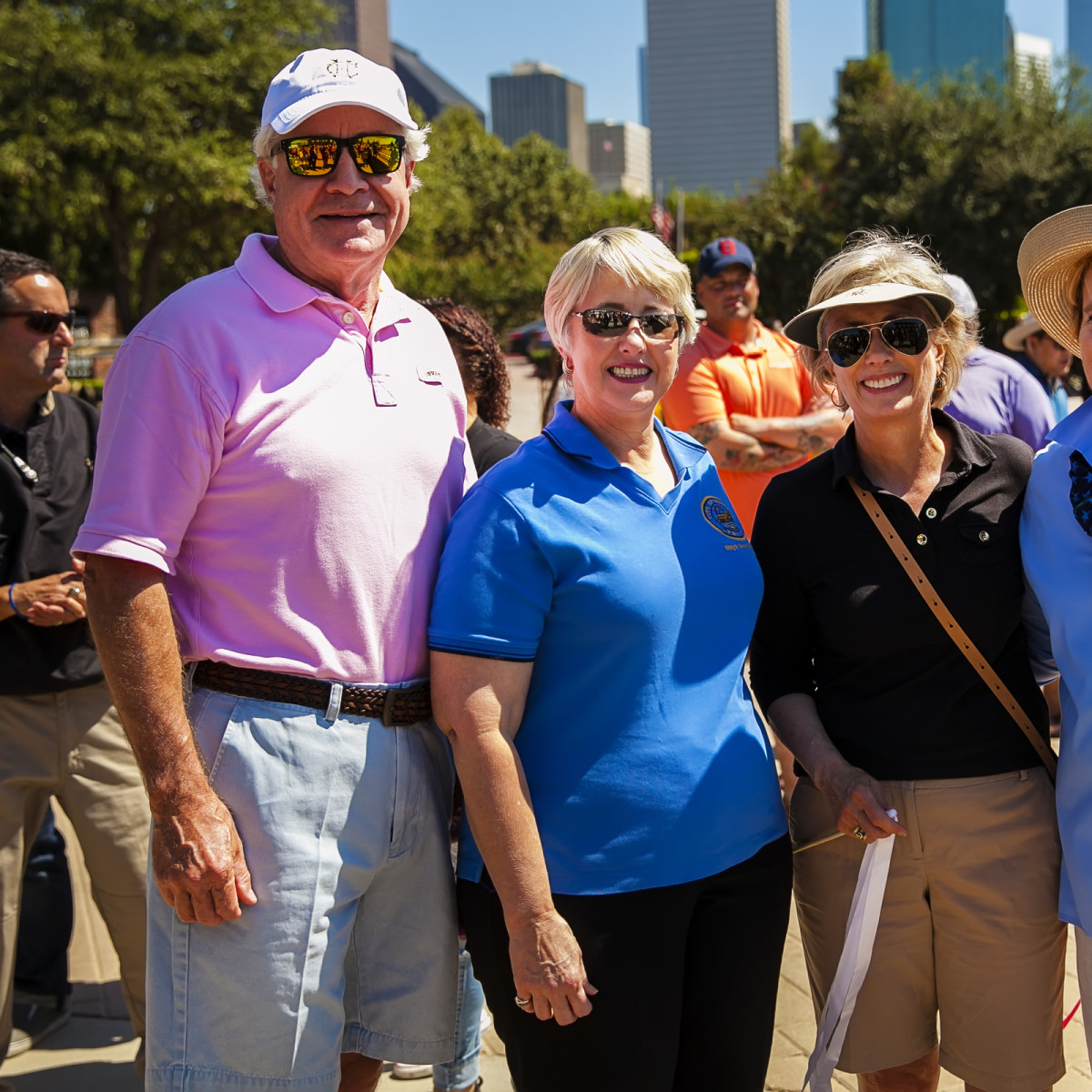 News, Shelby, Buffalo Bayou Park opening, Oct. 2015, David Heaney, Mayor Annise Parker, Ann Lents, Margaret Wolfe