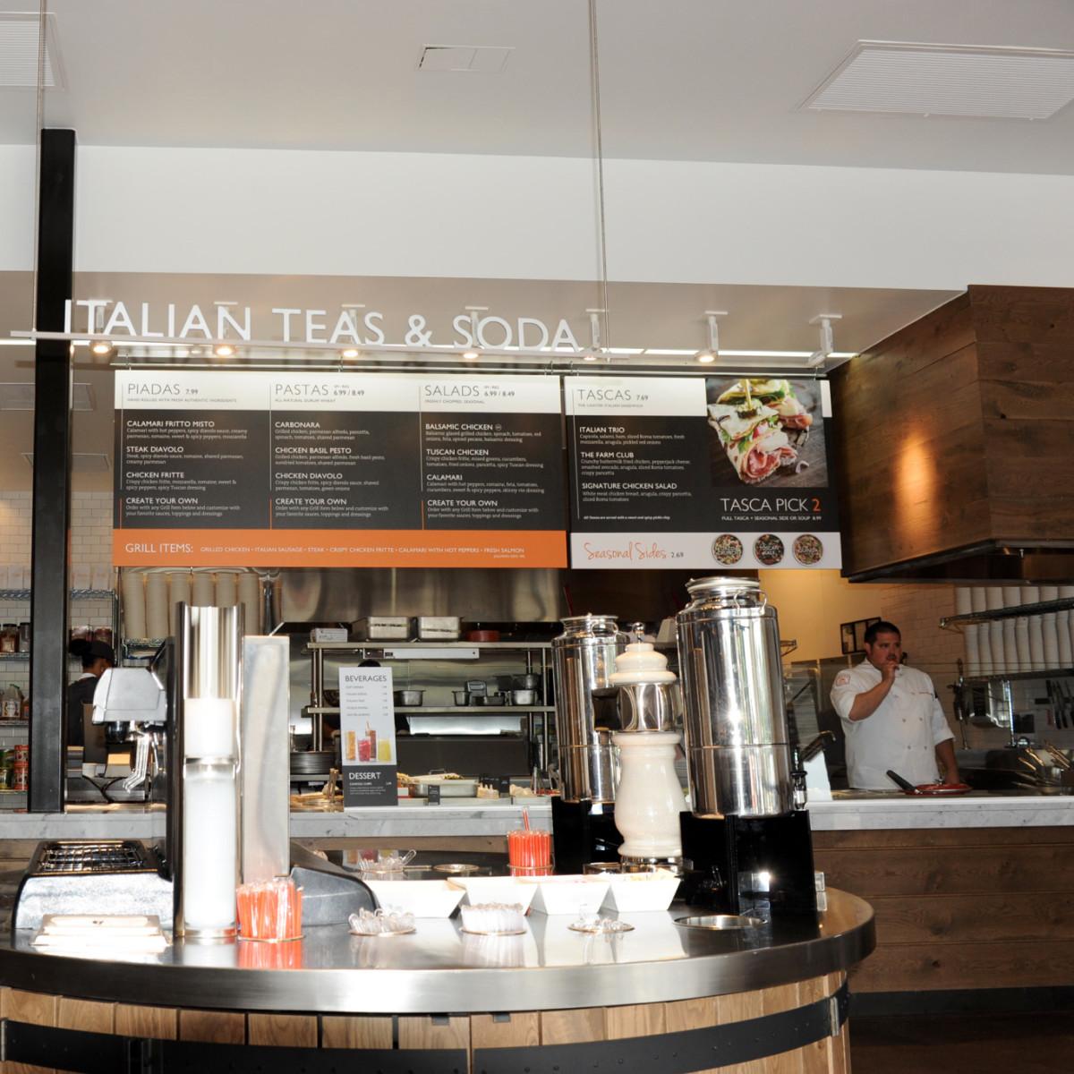 Piada Italian street food interior