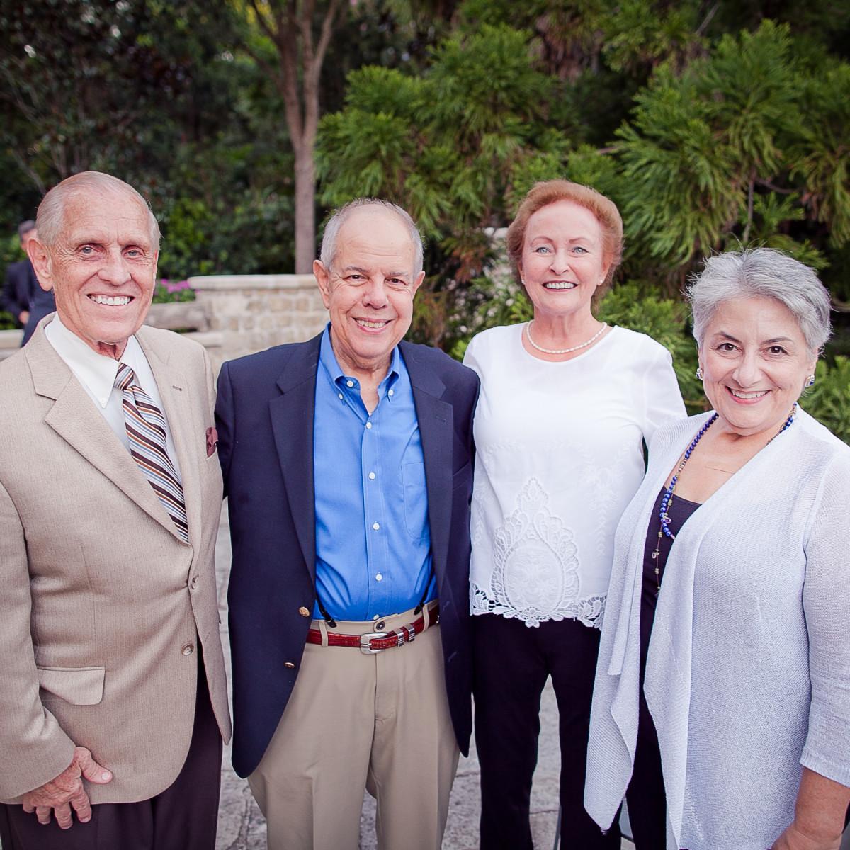 Houston, Robert Draper book signing, September 2015, Ronnie Glauser, Dr. Charles De John, Beverly McCoy and Tanya De John