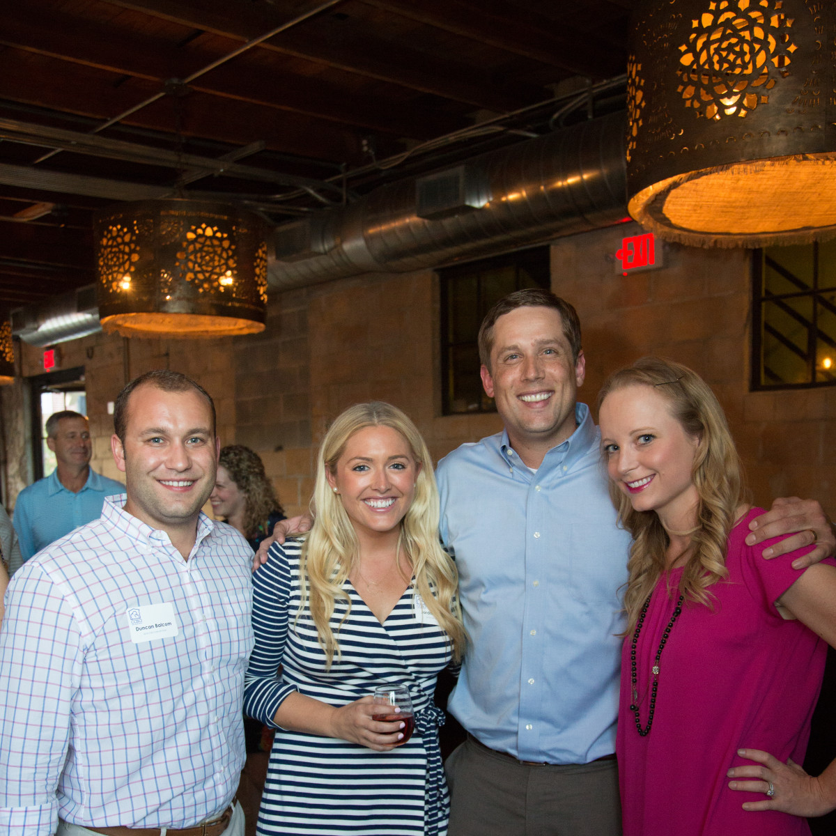 Houston, Casa de Esperanza YP Happy Hour, September 2015, Duncan Balcom, Jordan Balcom, Chris Manuel, Katie Manuel.