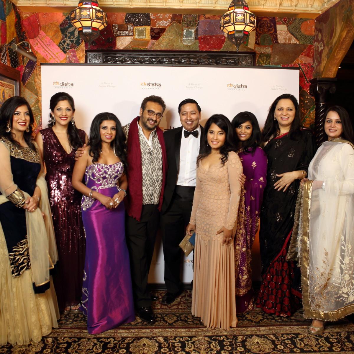 Bass Gala 2015 The Board of Ek Disha: L-R Geeta Anand, Sippi Khurana, Farida Abjani, Gopaal Seyn, Rick Pal, Swati Narayan, Raj Patel, Jyoti Malhan, Irum Javed