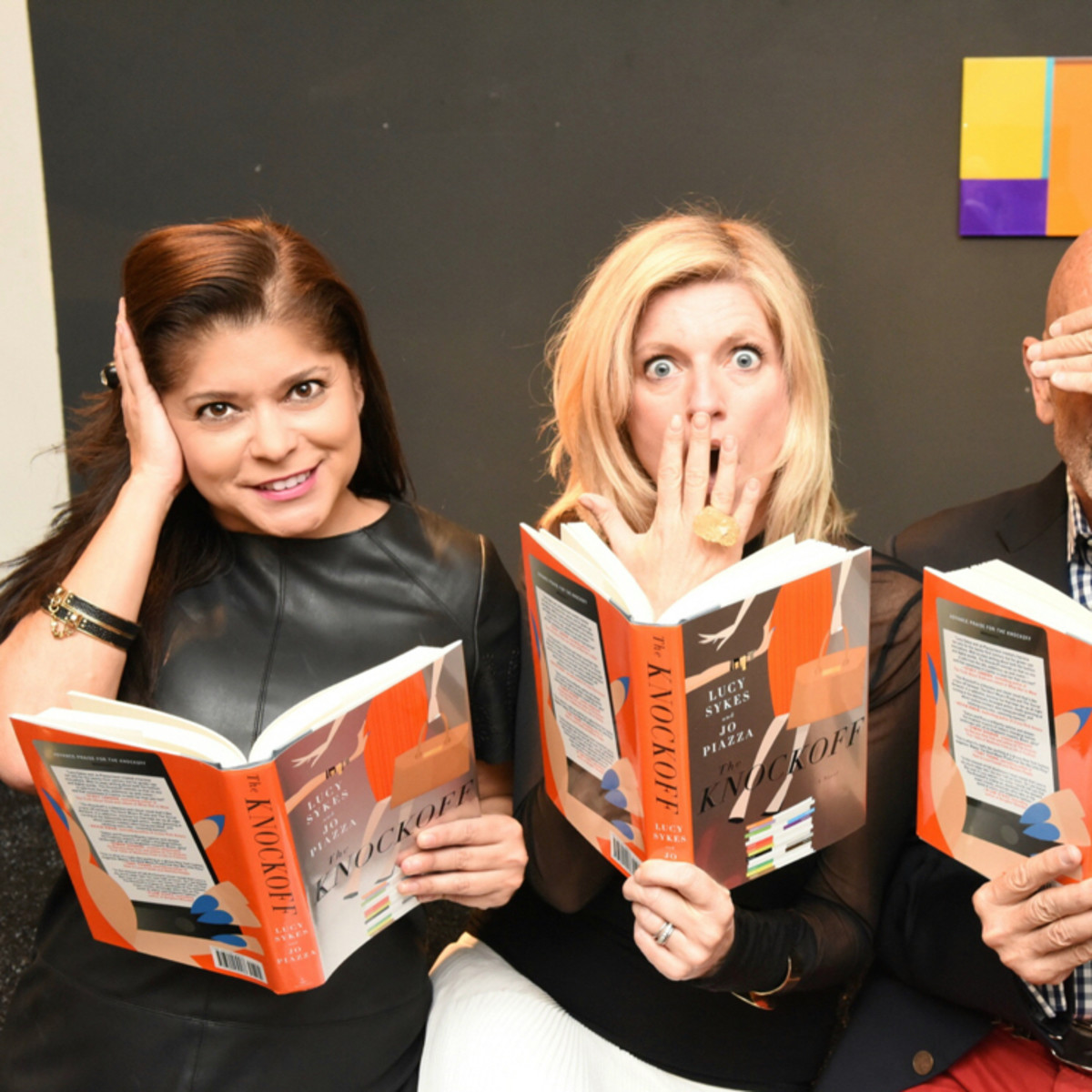 Marcy de Luna, Clifford Pugh and Lucy Sykes at Dress for Dinner Recipe for Success event